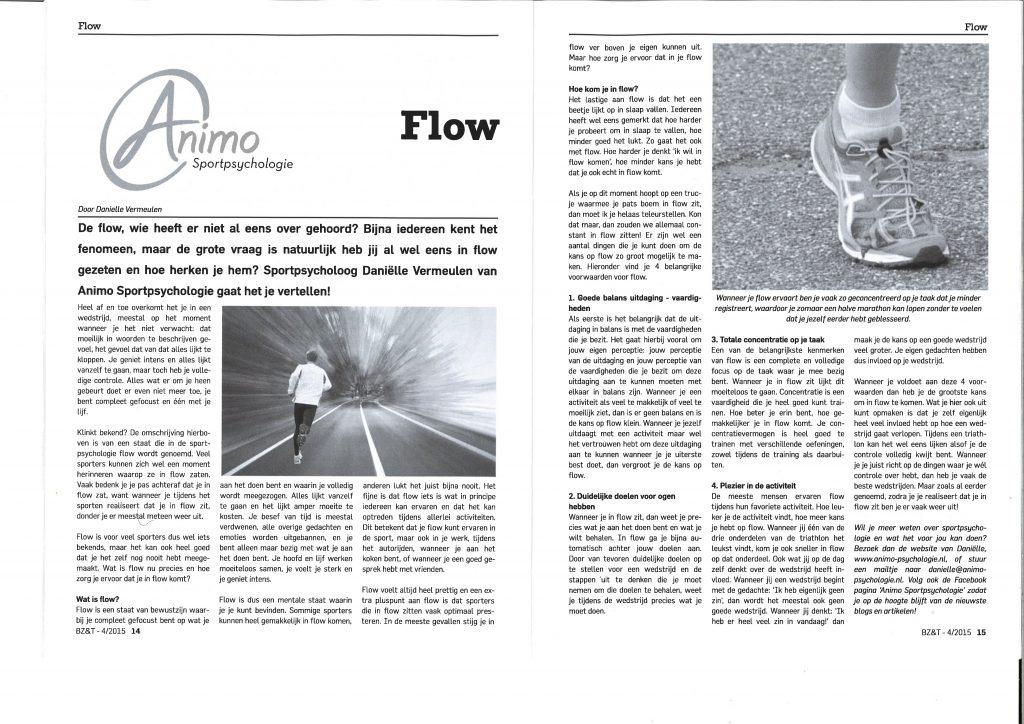 Artikel Flow Animo Sportpsychologie